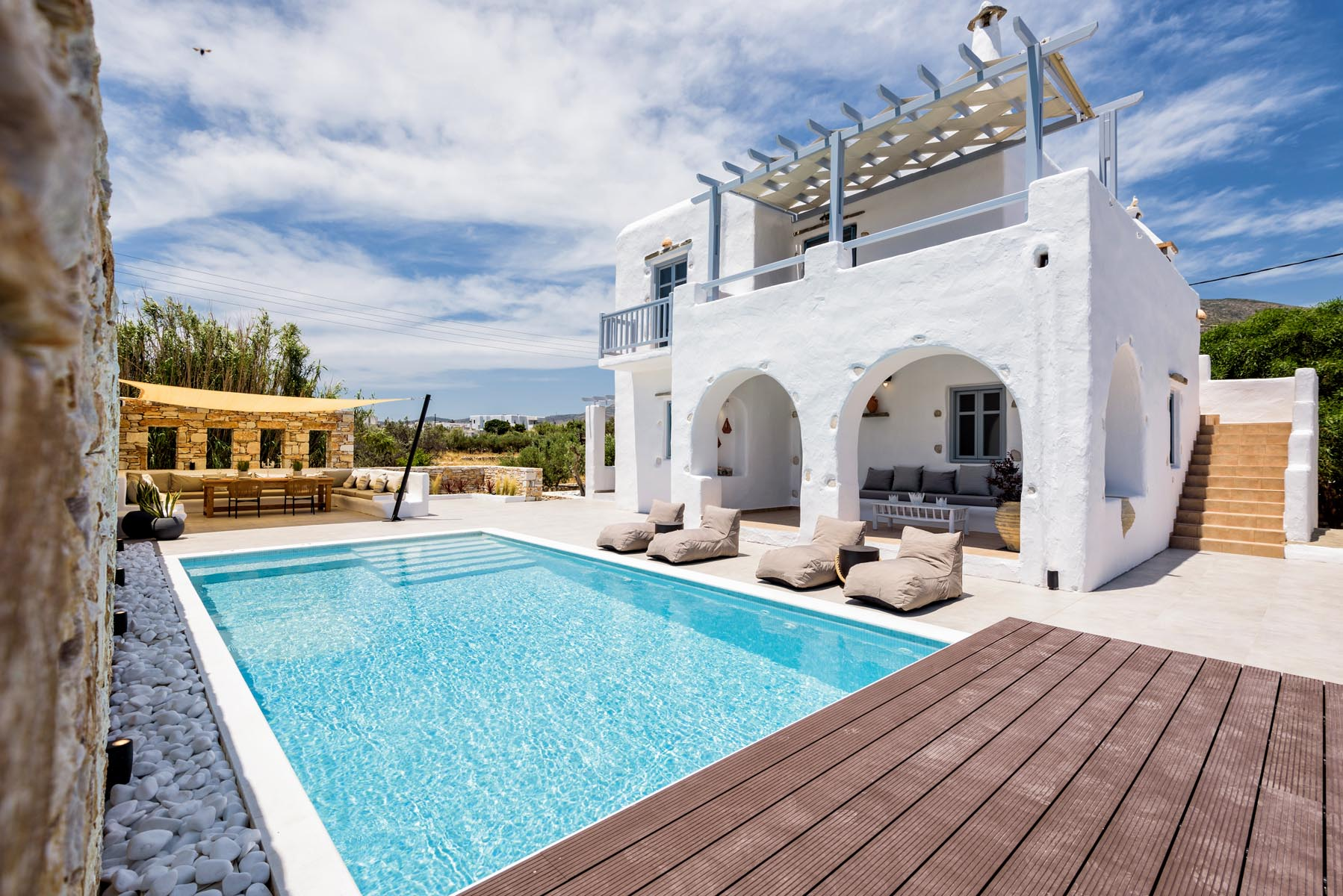 villa vanta I dryos paros greece beautiful private villa swimming pool to rent in paros image